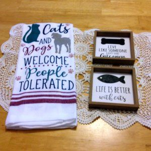 Cute dog and cat lovers bundle